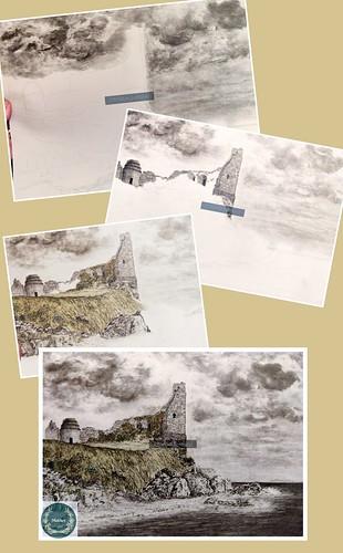 Art in progress. From Artist Spotlight: Melanie Whitson, MelArt Scotland