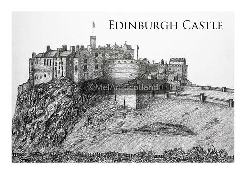 Edinburgh Castle. From Artist Spotlight: Melanie Whitson, MelArt Scotland