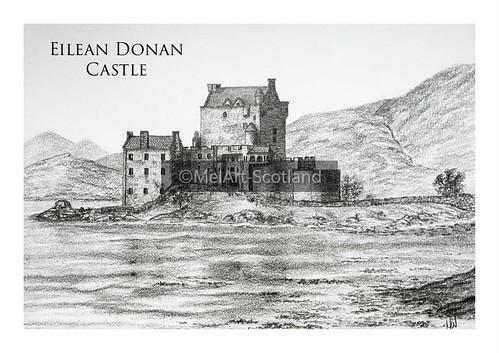 Eilean Donan Castle. From Artist Spotlight: Melanie Whitson, MelArt Scotland