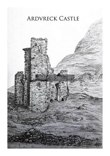 Ardvreck Castle. From Artist Spotlight: Melanie Whitson, MelArt Scotland