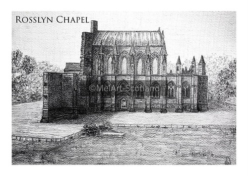 Rosslyn Chapel. From Artist Spotlight: Melanie Whitson, MelArt Scotland