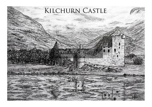 Kilchurn Castle. From Artist Spotlight: Melanie Whitson, MelArt Scotland