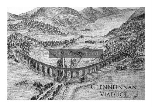 Glenfinnan Viaduct. From Artist Spotlight: Melanie Whitson, MelArt Scotland