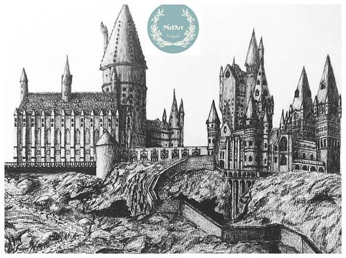 Hogwarts Castle. From Artist Spotlight: Melanie Whitson, MelArt Scotland