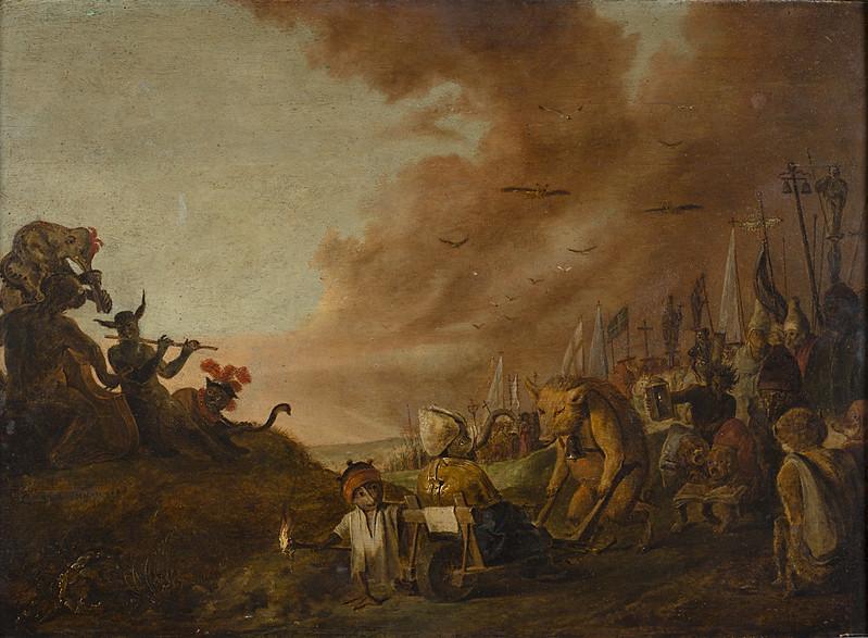 Cornelis Saftleven - Satire on the Leaders of the Roman Catholic Church, 17th C
