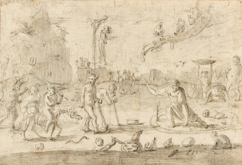 Cornelis Saftleven - A Witches' Sabbath, 17th Century
