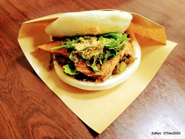 "2020 Michlin Taiwan recommand tradition light dishes ""源芳刈包""(Pork belly bun)at Taipei, Taiwan, SJKen, Dec 27, 2020."