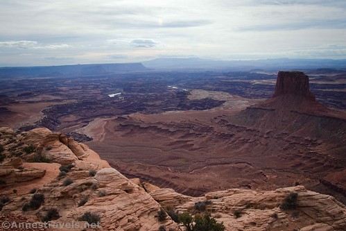 Wide-ranging views from the Lathrop Trail, Canyonlands National Park, Utah