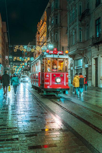 Beyoglu Tram at Night