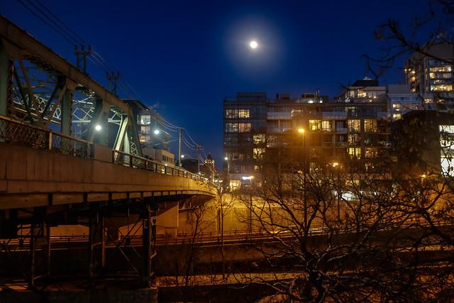 Moon over Riverside
