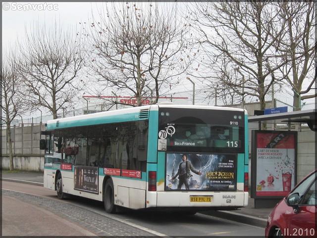Man NL 223 – RATP (Régie Autonome des Transports Parisiens) / STIF (Syndicat des Transports d'Île-de-France) n°9110