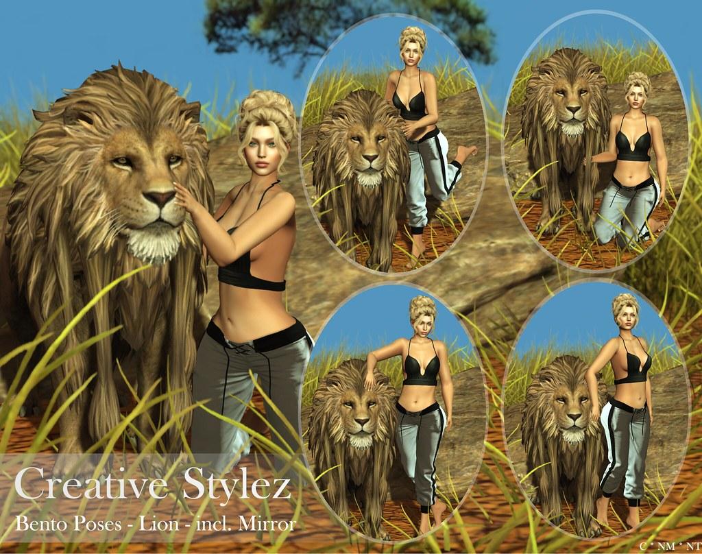 Creative Stylez – Bento Poses – Lion –