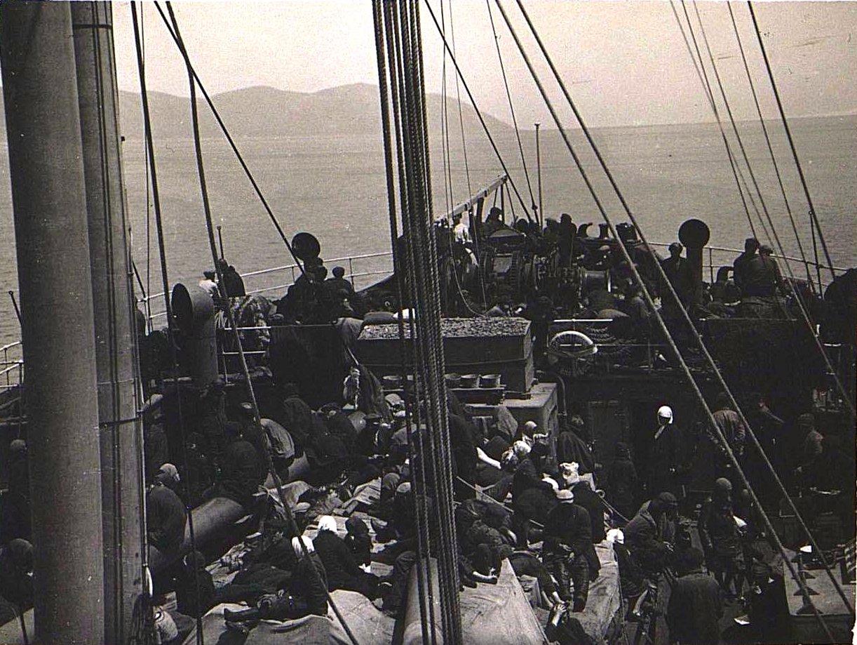 «Вид палубы нашего парохода». Берзин А. П. 1931