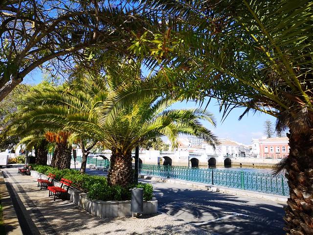 Puente de Siete Arcos o Puente Romano de Tavira Algarve Portugal