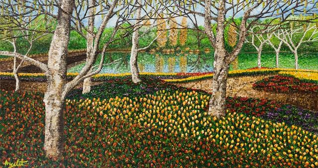 איילת בוקר הציירות המודרניות הישראליות ציור בנקודות ציורים נקודות יוצרות מודרניות