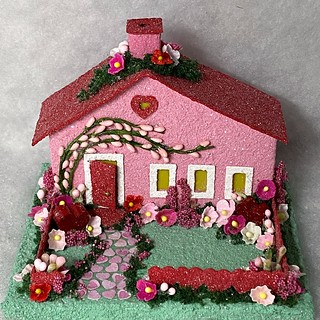 ORIGINAL Pink and Red Valentine Putz House | by christmasnotebook