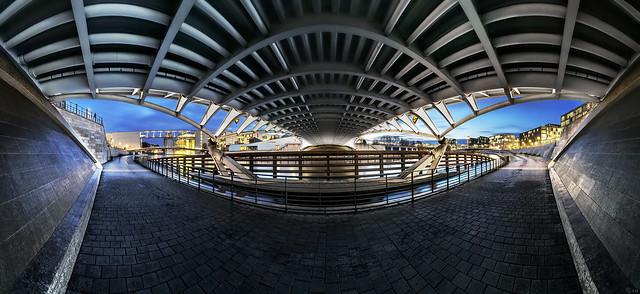 Berlin Kronprinzenbrücke - Panorama