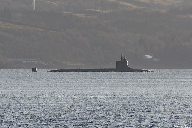 United States Navy nuclear attack submarine (SSN), USS Seawolf, SSN-21; Firth of Clyde, Scotland