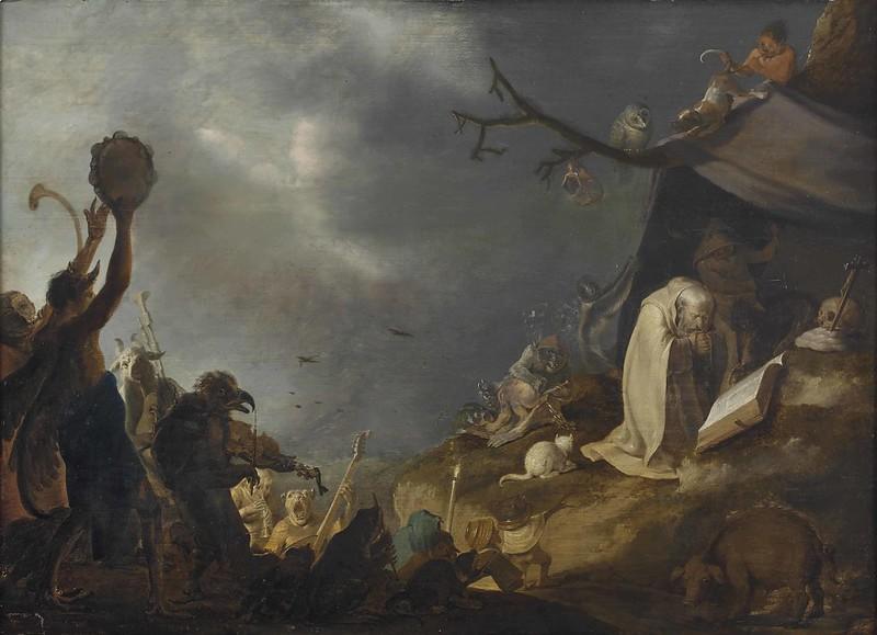 Cornelis Saftleven - The Temptation of Saint Anthony, 17th C
