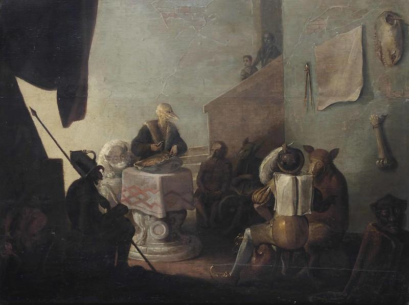 Cornelis Saftleven - Scene of Witchcraft, 17th C