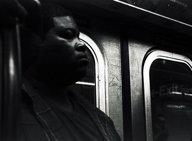 inside the NY subway