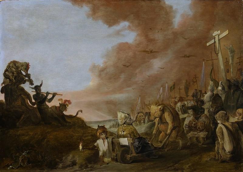 Cornelis Saftleven - Satire on the Leaders of the Roman Catholic Church, version 2, 1629