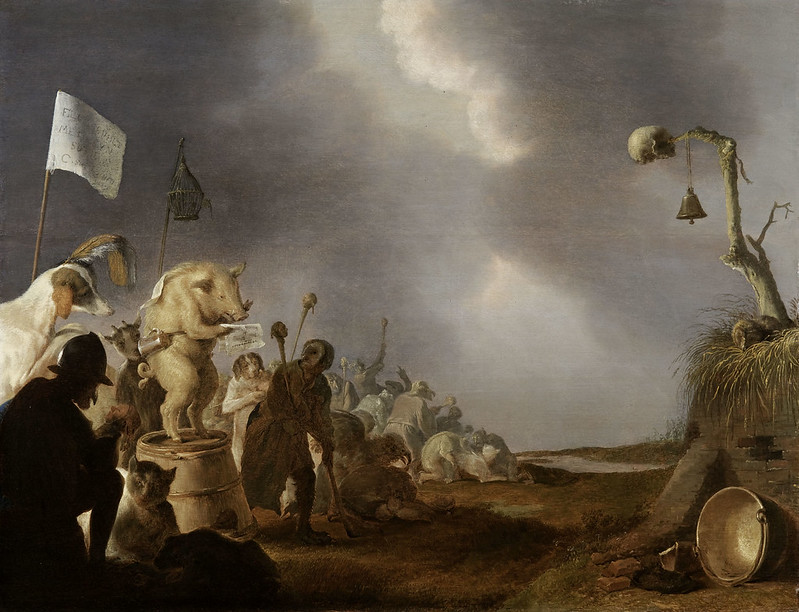 Cornelis Saftleven - Allegory of Human Folly, 1629