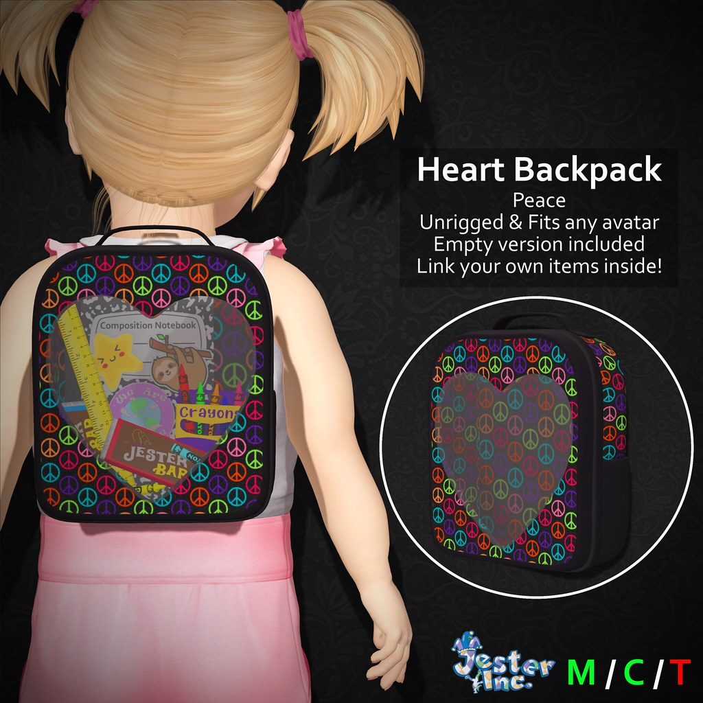 Presenting the new Heart Backpacks from Jester Inc.