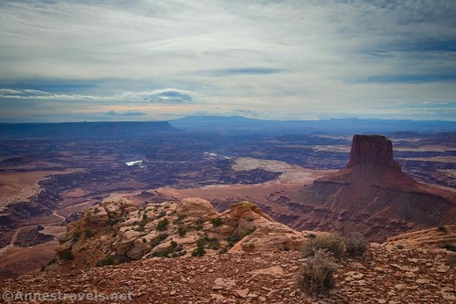 Views from the Lathrop Point Overlook, Canyonlands National Park, Utah