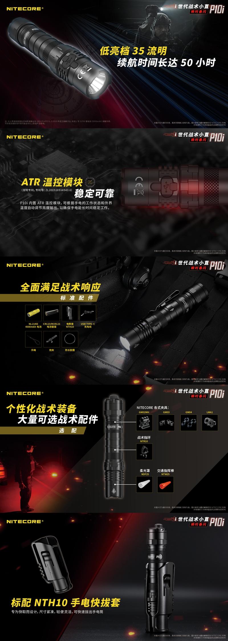 4-NITECORE I4000R 4400流明 附原廠電池 USB充電 MOLLE快拆套 NTR10 戰術指環 (3)