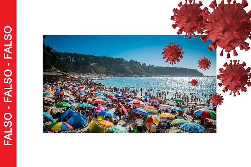 No es cierto que ir a la playa es seguro porque el agua de mar te protege del Coronavirus