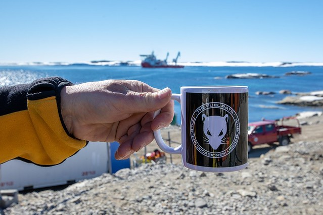 Fuel Rats Mug on the Arctic Expedition