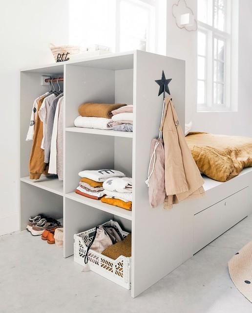 Headboard Bookcase / Wardrobe