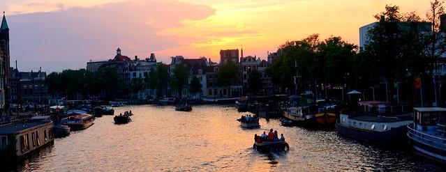 Dusk on the Amstel River