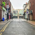Empty Guildhall Street, Preston