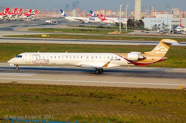 LIBYAN AIRLINES CRJ900 5A-LAM