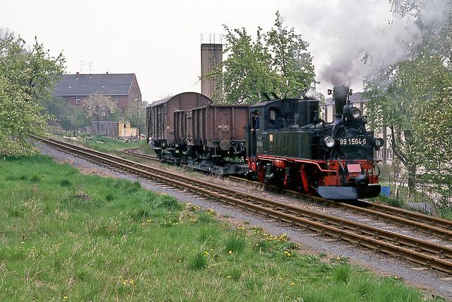 DR 99 1564 Kemmlitz (DDR) 21 april 1990