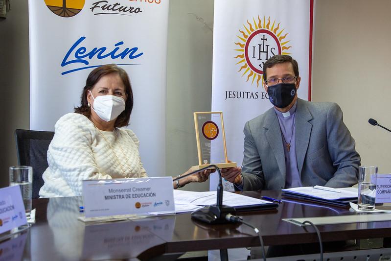 Firma convenio específico entre el Ministerio de Educación y la Asociación Fe y Alegría, La RUEI y el CMT