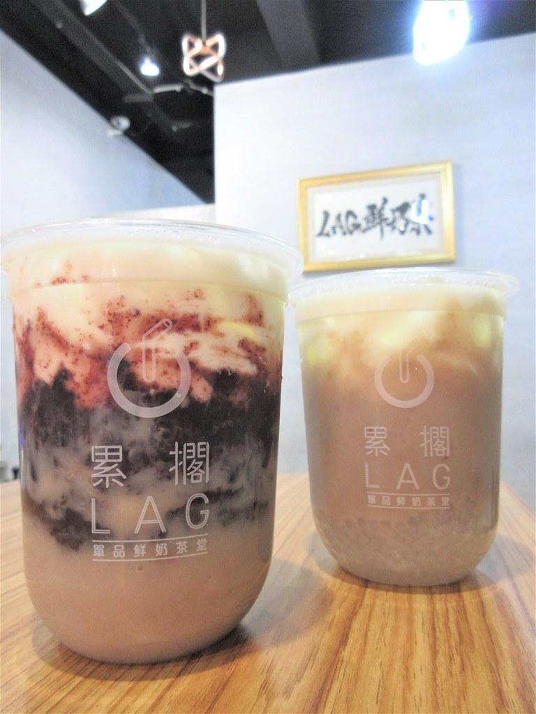 最真材實料的紫米芋頭牛奶,吃得到原塊芋頭尚天然!_LAG鮮奶茶堂_拾誠實