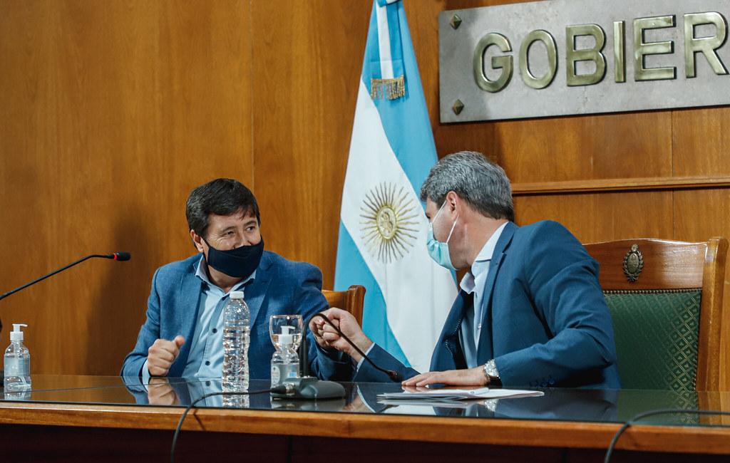 El gobernador Uñac y el ministro Arroyo firmaron un nuevo convenio