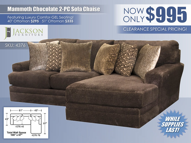 Mammoth Chocolate 2 Piece Sectional_4376_Update
