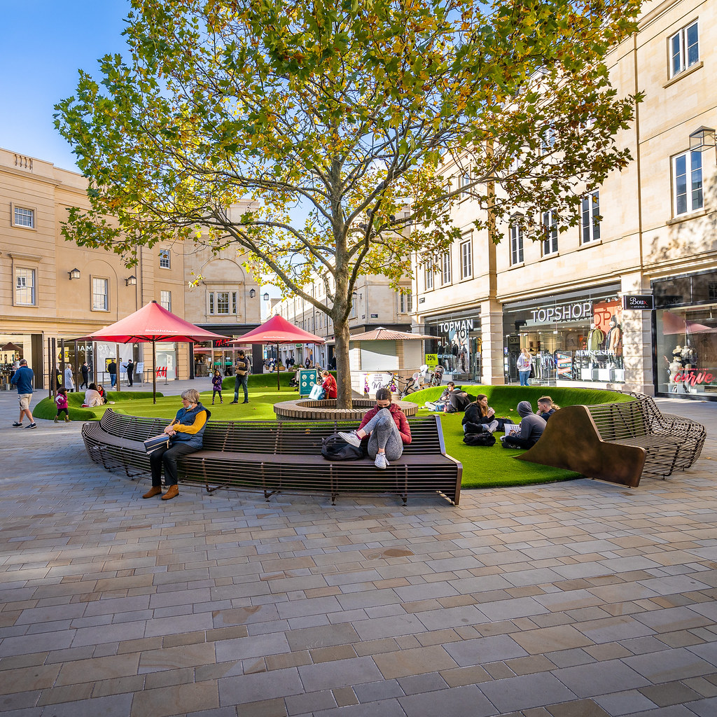 Southgate shopping area in Bath city centre