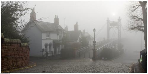 chester cityofchester cheshire queensparkbridgechester landscape mist