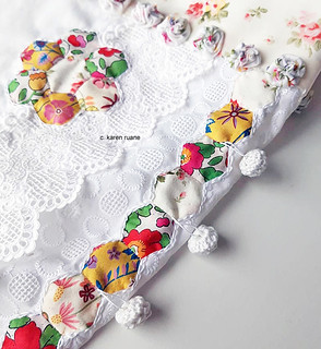 hexagons and embroidery | by contemporary embroidery