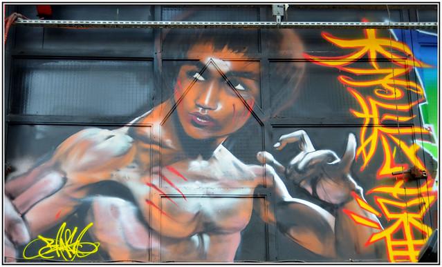 Bruce Lee - Graff