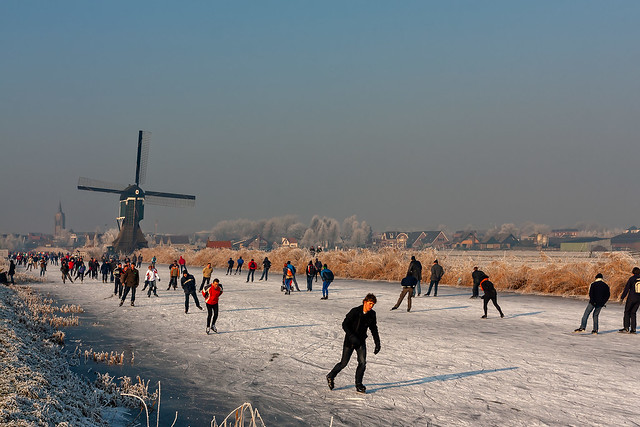 windmill ice skating tour