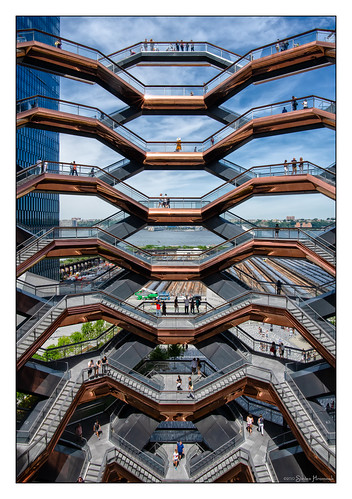 newyorkcity new york city thevessel vessel hudson yard structure stairs river mlarsk hanks