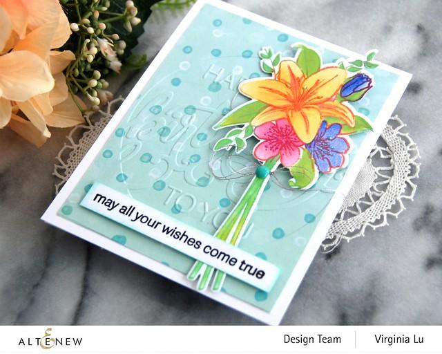 Altenew-Our Frienship Blooms-Modern Birthday Faux Letterpress Debossing Folder-002