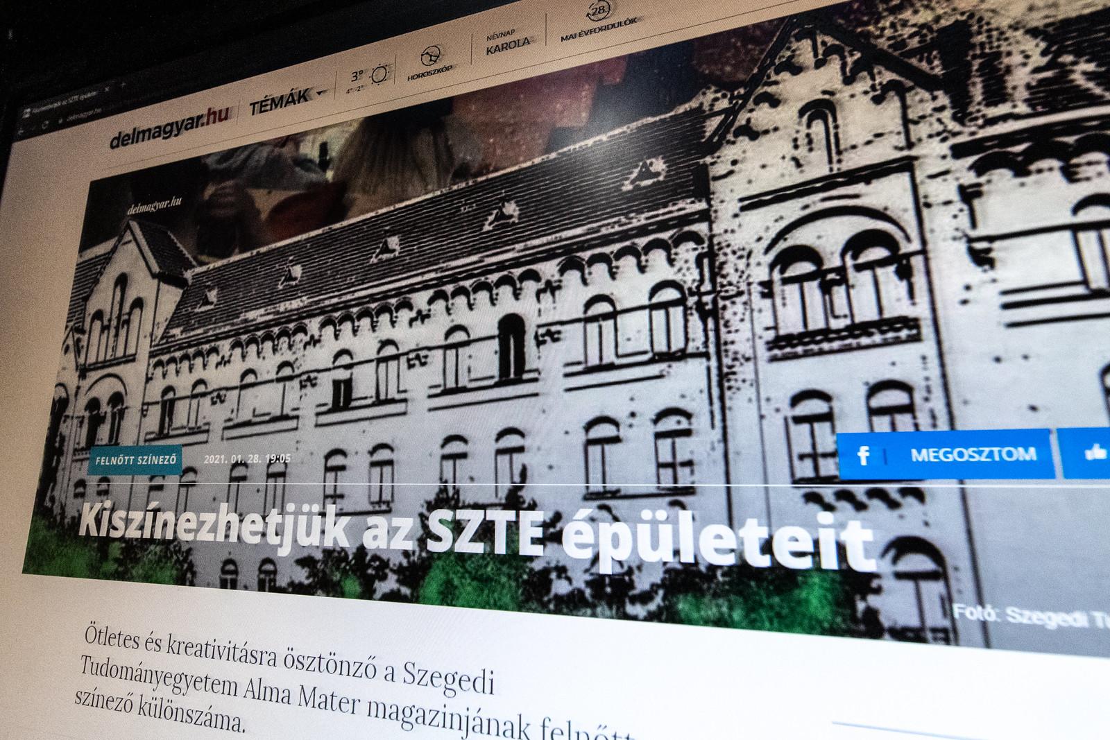 A modellváltást propagáló megyei lap egy nappal a szenátus előtt: színezzük ki az SZTE épületeit!