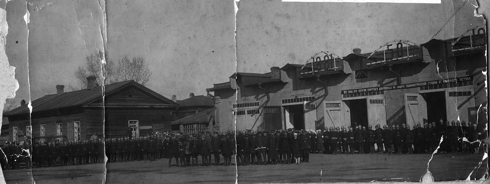 1931. Празднование 50-летия Добровольной пожарной дружины